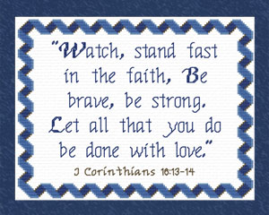 Custom Designs available to You - Bible Verses Cross Stitch