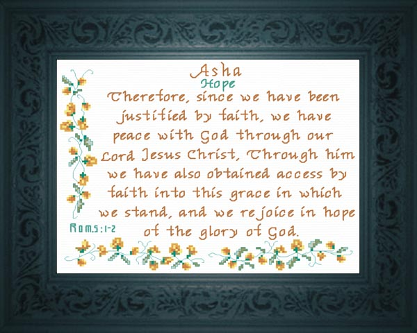 Name Blessings - Asha - Personalized Names with Meanings