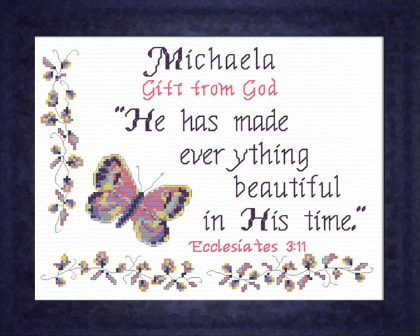 Name Blessings Michaela Personalized Names With